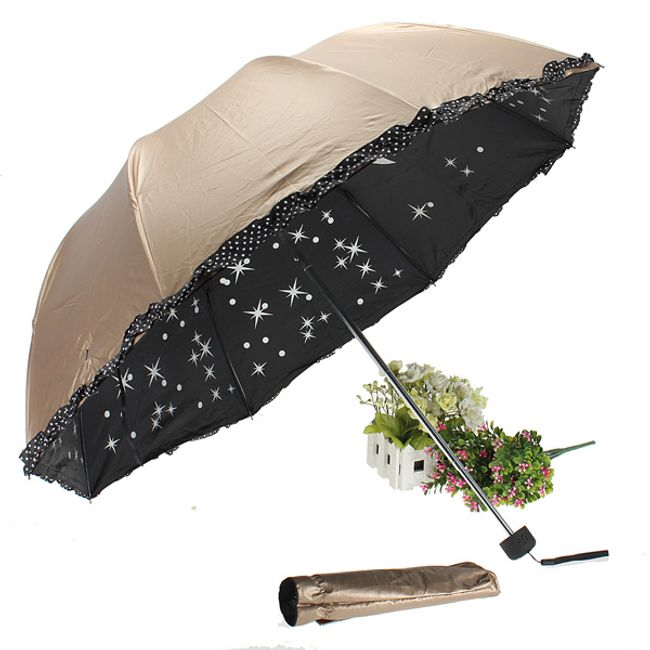 Originalni kišobran sa motivima zvezdica i mesecom - 3 boje 1