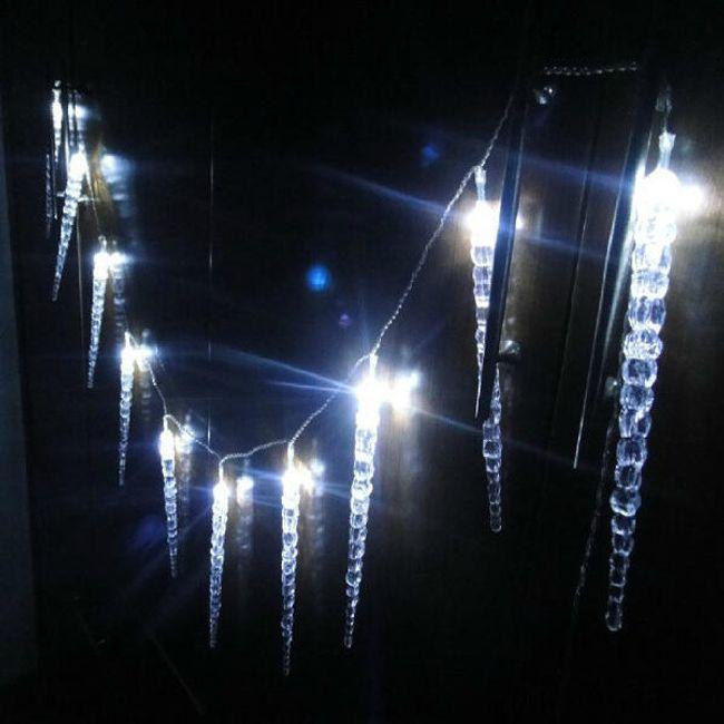 Svítící LED rampouchy  1