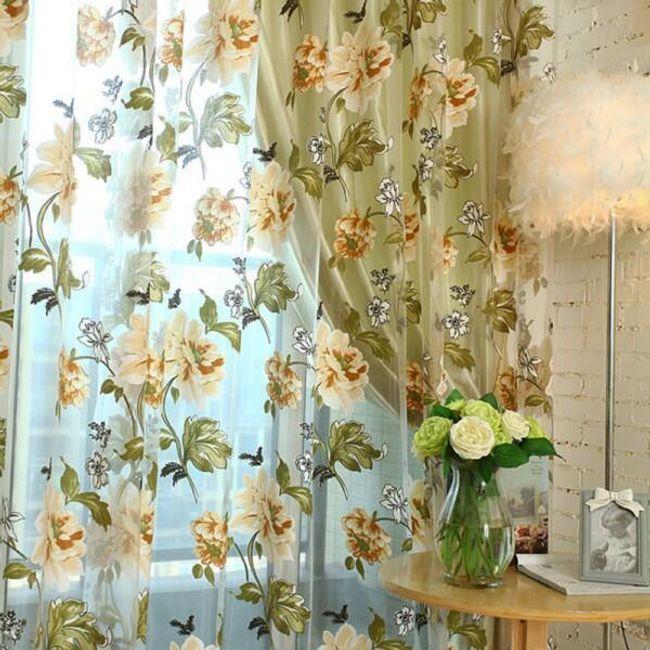 Zavesa sa cvetićima - žuta 1