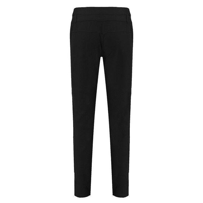 Dámské elegantní kalhoty s knoflíky - Černá-velikost č. 4 1