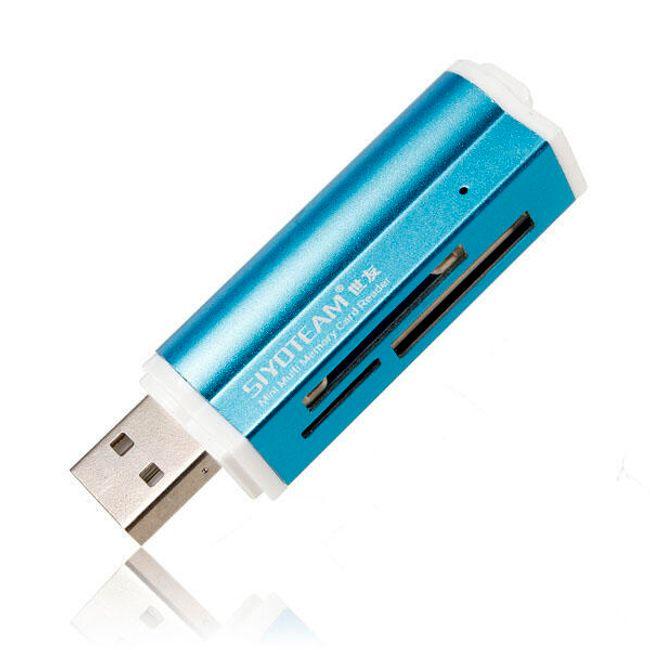 Univerzális USB memóriakártya-olvasó - 4 szín 1