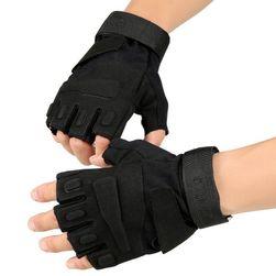 Taktické bezprsté rukavice – různé barvy a velikosti