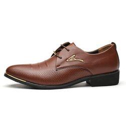 Moški poslovni čevlji rjava-8,5