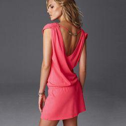 Damska sukienka w różnych kolorach - 11 kolorów Różowy