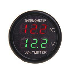 Araç çakmak voltometre termometre