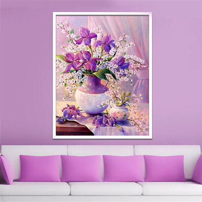 Sada pro výrobu vlastního obrazu s motivem květiny - 30 x 40 cm 1