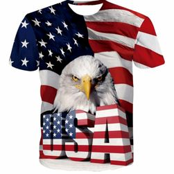 Tricou cu motiv american și vultur - 2 variante
