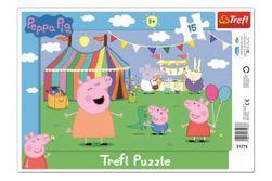 Puzzle deskové V zábavním parku Prasátko Peppa/Peppa Pig 15dílků 33x23cm RM_89131276
