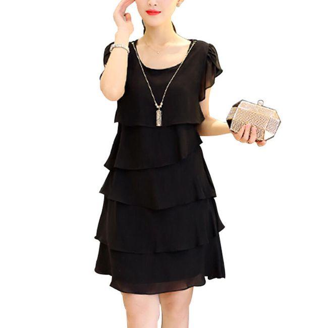 Krátké vrstvené šaty - různé barvy 1
