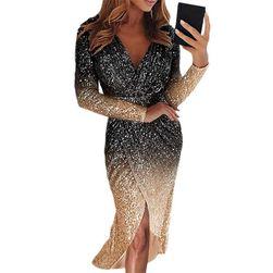 Ženska haljina sa dugačkim rukavima Eva