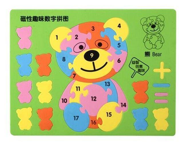 Vzdělávací hračka pro děti - Puzzle medvídek 1