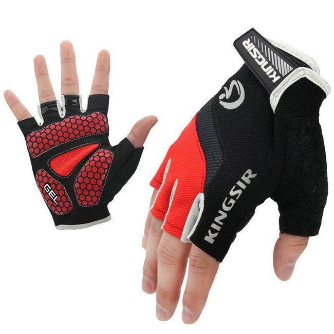 Kolesarske rokavice z ježek trakom - 3 barve 1