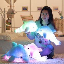 Veliki svetleći LED jastuk - Delfin - 45 cm