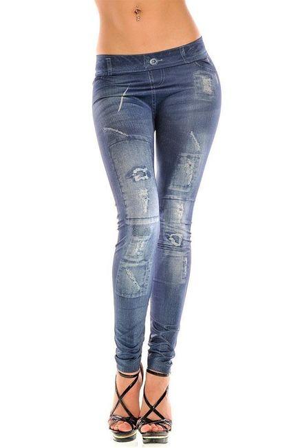 Női leggings farmer utánzat 1
