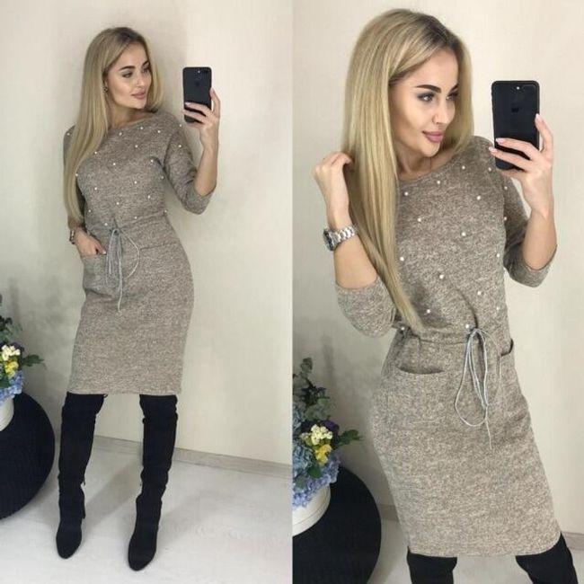 Női hosszú ujjú ruha Elena