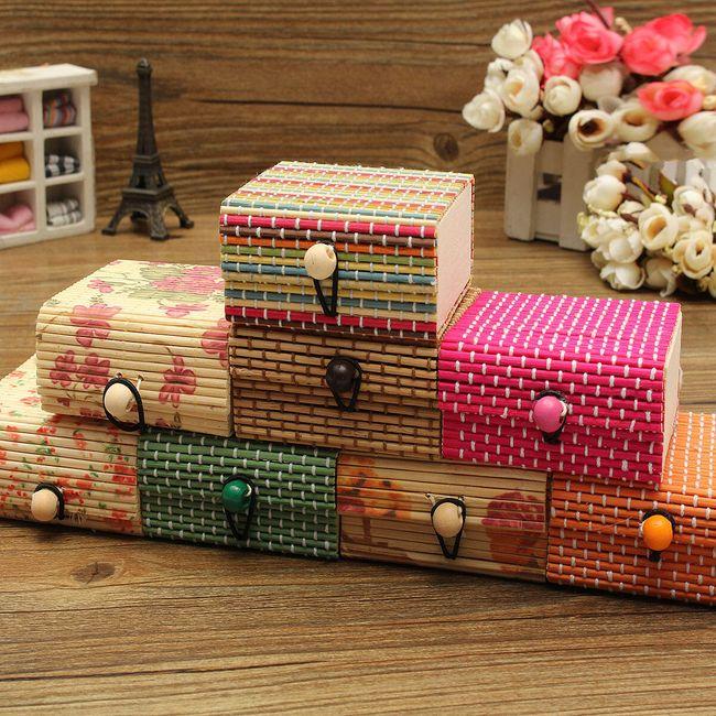 Cutie de bijuterii din lemn de bambus 1