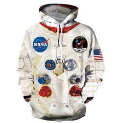Unisex pulóver 3D nyomtatással NASA