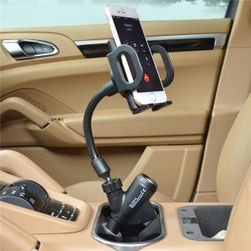 Punjač za automobil sa postoljem za telefon