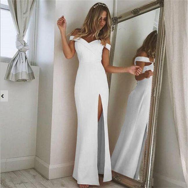 Dámské dlouhé šaty Darlene - Bílá-velikost č. 3 1