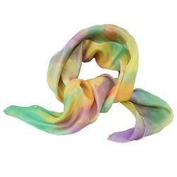 Hedvábný ručně malovaný šátek Jarní vítr