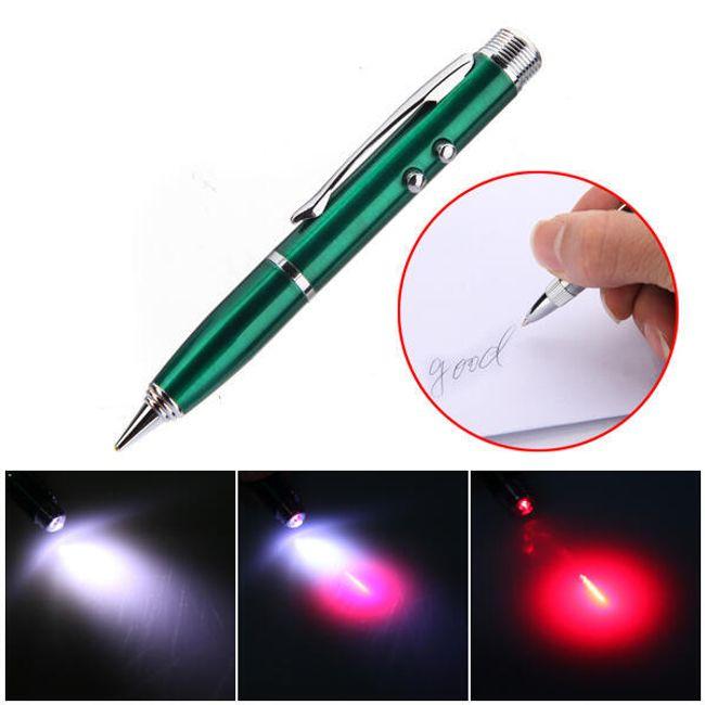 Klíčenka 4v1 - laser / LED svítilna / stylus a propiska 1