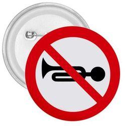 Placka Zákaz zvukových výstražných znamení