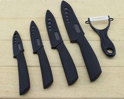 Sada keramických nožů se škrabkou na zeleninu - 4 barvy