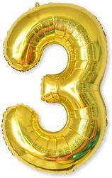 Nafukovací balónky čísla maxi zlaté - 3 SR_DS18132880