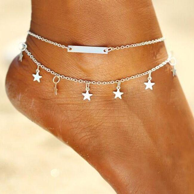 Zapestnica za gležnje z zvezdami 1