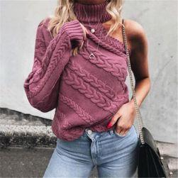 Женский свитер на одно плечо France