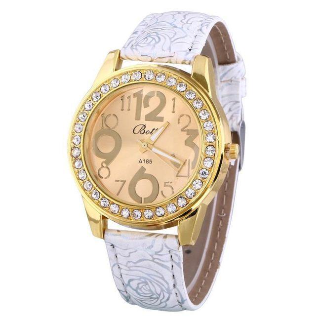 Náramkové hodinky v retro stylu s kamínky - 6 barev 1