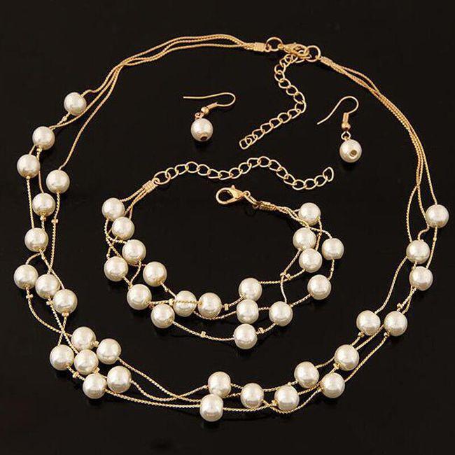 Komplet nakita - uhani, ogrlica in zapestnica 1