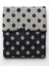 Dětská bavlněná deka   Puntíky 75x100 grafitovo-šedá RW_30995