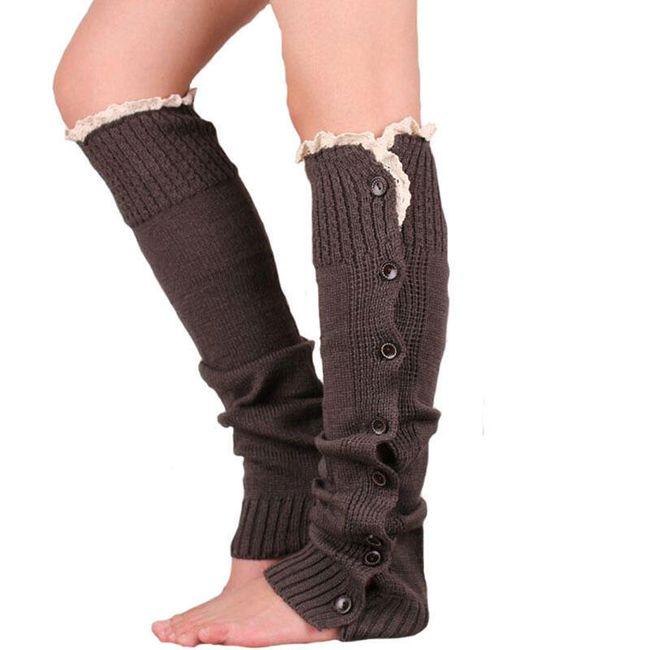 Návleky na nohy s knoflíky - více barev 1