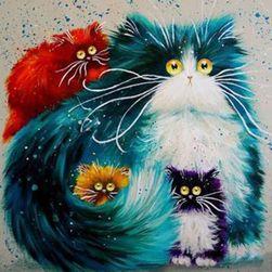 Barkács kép - színes macskák