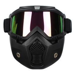Ochranná maska na obličej s duhovými sklíčky