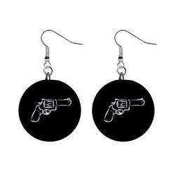 Cercei plaţi + revolver
