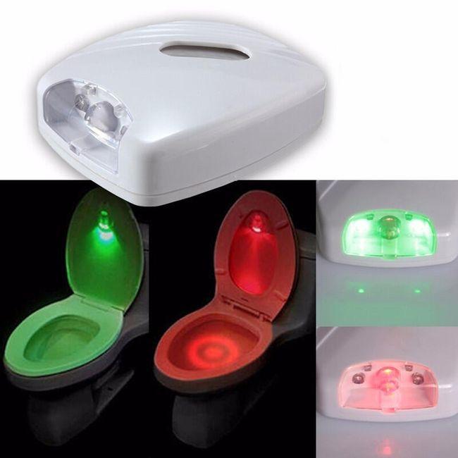 Lumină LED pentru vasul de WC cu senzor de miscare 1