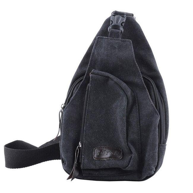 Чанта през рамо за мъже - черен цвят 1