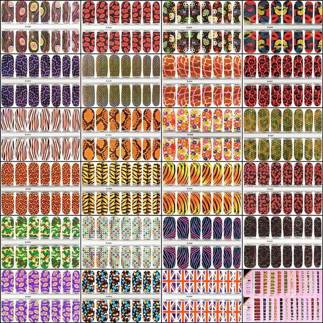 Nálepky na nehty s originálním potiskem - na výběr z 18 vzorů 1