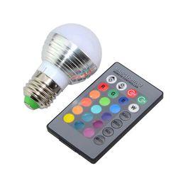 E27/E14 LED žárovka měnící barvy s ovladačem