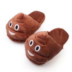 Mekane plišane papuče Poop