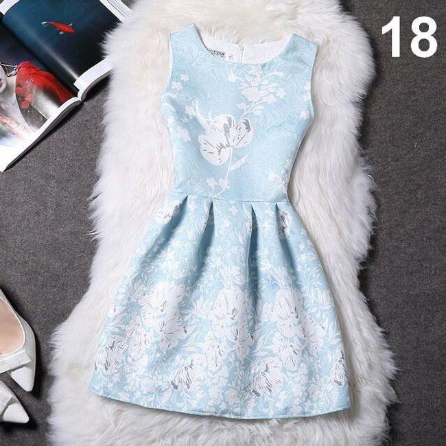 Elegantní šaty s originálními motivy - varianta 18, velikost 4 1