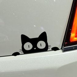 Samolepka na auto - překvapená kočka