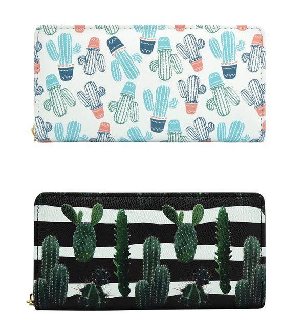 Női pénztárca kaktuszokkal - 9 változat