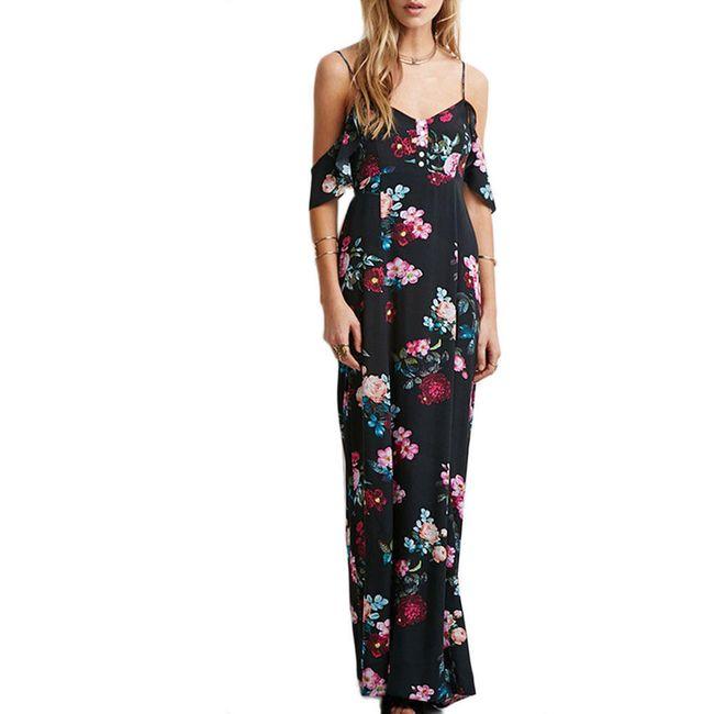 Dlouhé šaty s květinovým vzorem - více velikostí 1