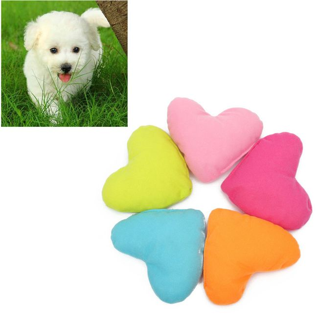 Плюшевая игрушка для собаки- сердечко 1