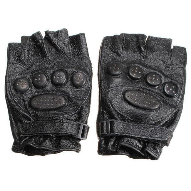 Cyklistické rukavice - kožené 1
