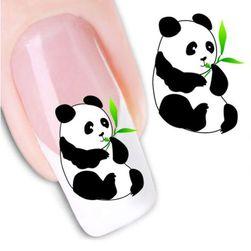 Nálepky na nehty s roztomilou pandou