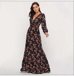 Женское платье с длинными рукавами Penna